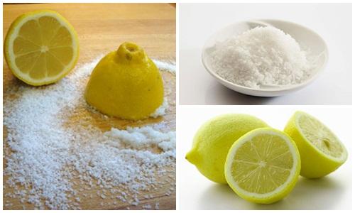 Xóa xăm môi với dung dịch muối + nước cốt chanh